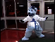 NHL Saint Louis Blues Hockey mascot Louie visits Karate STL